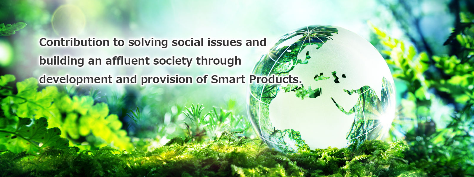 Contribution to solving social issues and building an affluent society through development and provision of Smart Products.